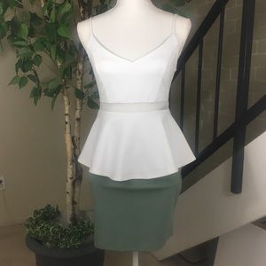 Guess top & sea foam colored skirt. Size Petite S.